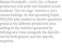 Rimini Protokoll's  100% City, a theater production that polls